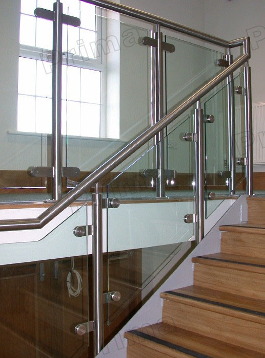 Glass Railing System Glass Balcony Glass Railing: Stainless Steel Staircase Glass Railings System