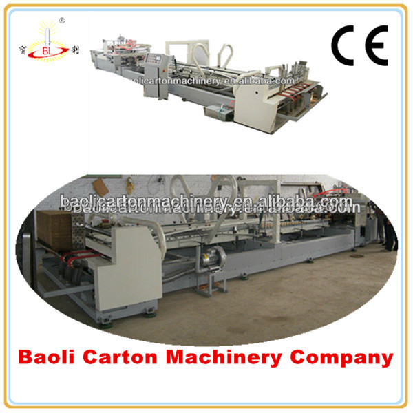3layers corrugated for the carton box full automatic high speed fold gluer machine