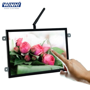 10.1inch open frame android advertising player display cases for retail wall mounted digital signage