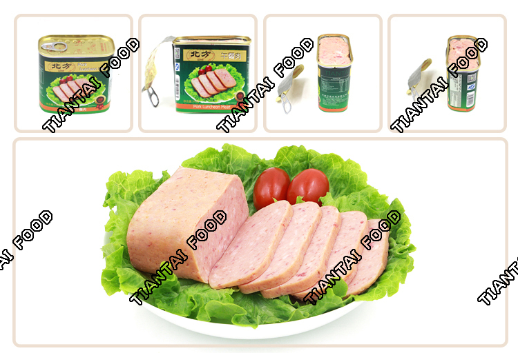 military canned meat food pate pork luncheon meat 340g