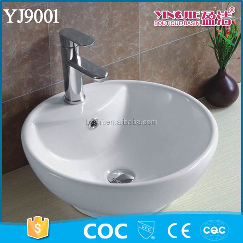 YJ9001 Foot Wash Vessel Basin Sink Tabletop for Bathroom