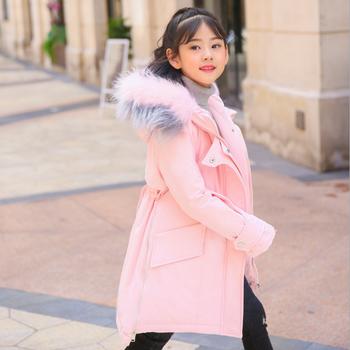 408517fc13e4 Korean Style 2018 Winter Children White Down Jackets 100% Polyester ...