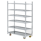 outdoor plant nursery storage rack trolley cart for sale
