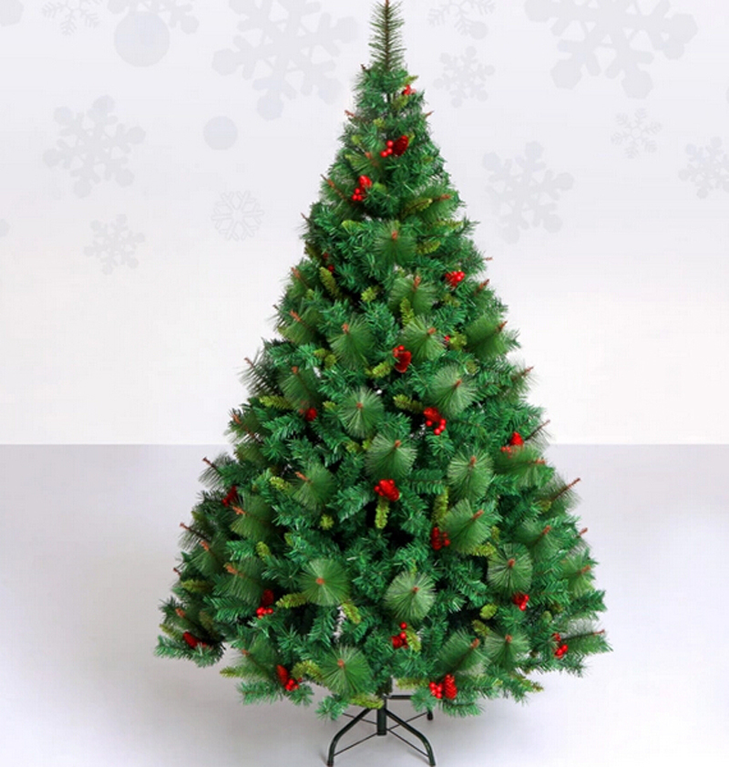 Red Red Pine Christmas Tree: Free Shipping Christmas Tree 210cm Quality Pine Artificial