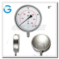 8Inch 200mm dial liquid filled air pressure gauge