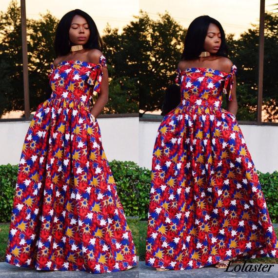 African Kitenge Dress Designs African Batik Printed Super