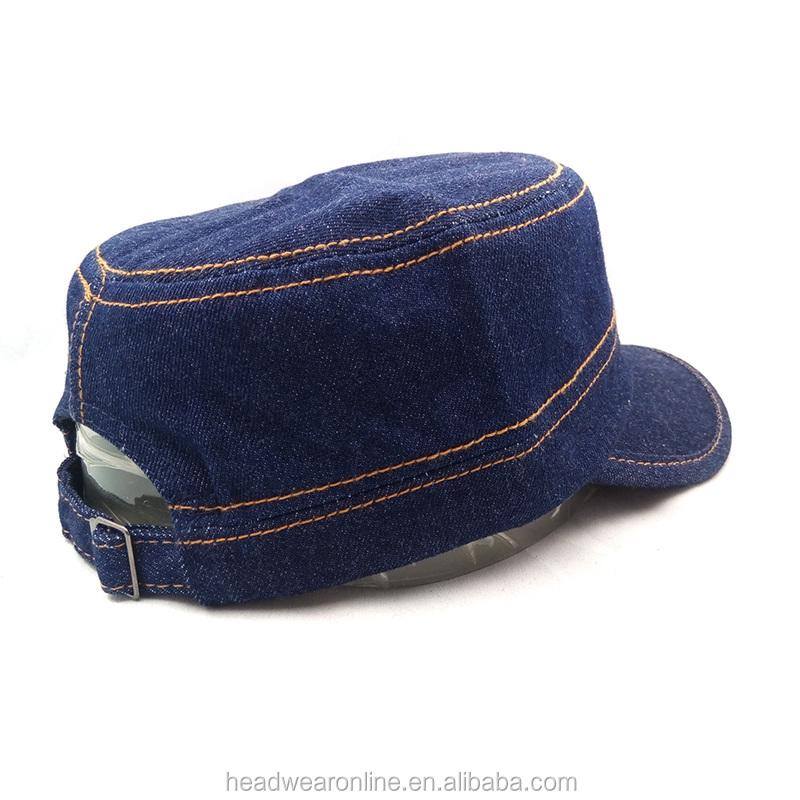 7eb114fbbfe5b8 Custom Blank Denim Military Caps And Hats - Buy Military Caps,Denim ...