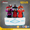 Fashion and Cool 9D VR Six-seats cinema Simulator With Crank System Platform