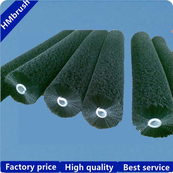 food industry cleaing nylon bristle roller brush with steel spring
