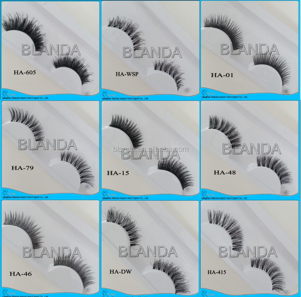 Clear Band Hot sale fashion natural Human Hair lashes