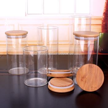 750ml Large Glass Jar With Lid For Candy/tea/biscuit Transparent Glass Canister