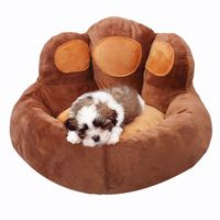 RoblionPet autumn and winter bears paw dog cat nest soft luxury Plush sleeping Bed Mat Pet house