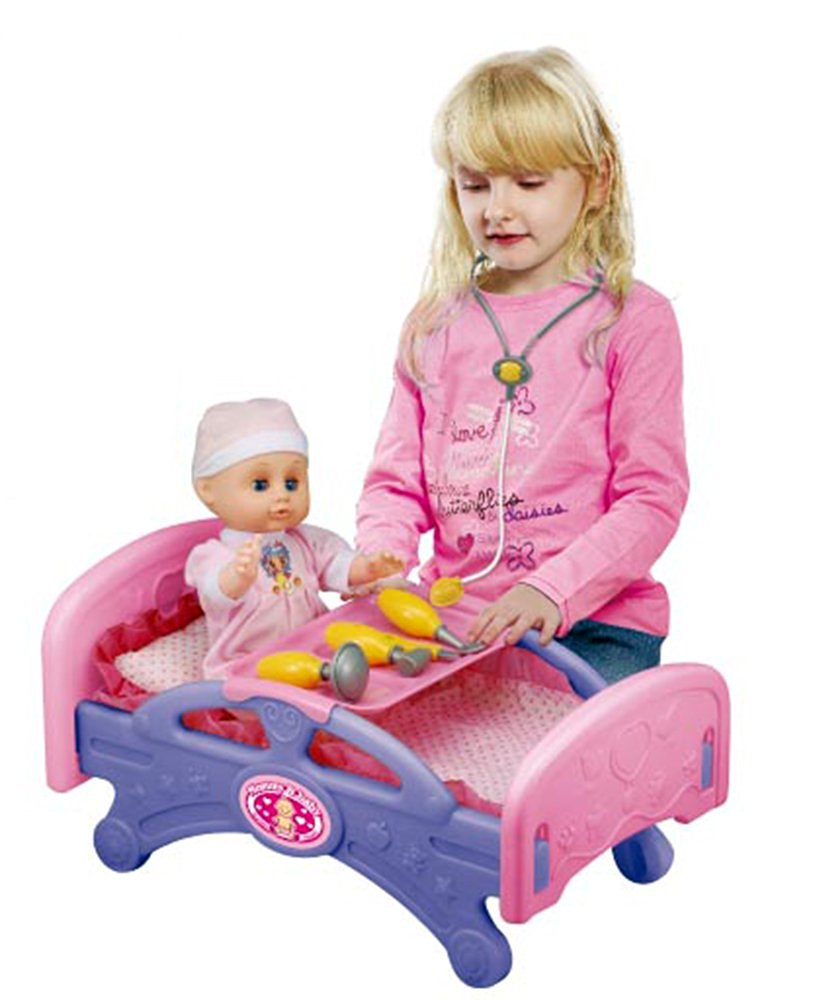 Mommy & Baby Medical Bed Furniture for Dolls with Doctor Set & Accessories