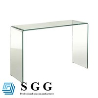 Luxury glass console table
