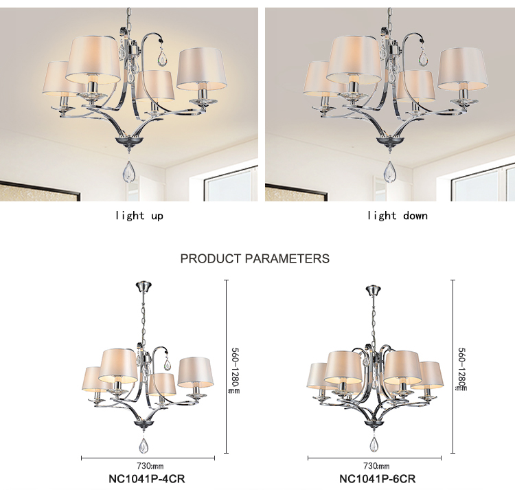 home interior decorator Dinning Pendant lamp chandelier bobeche