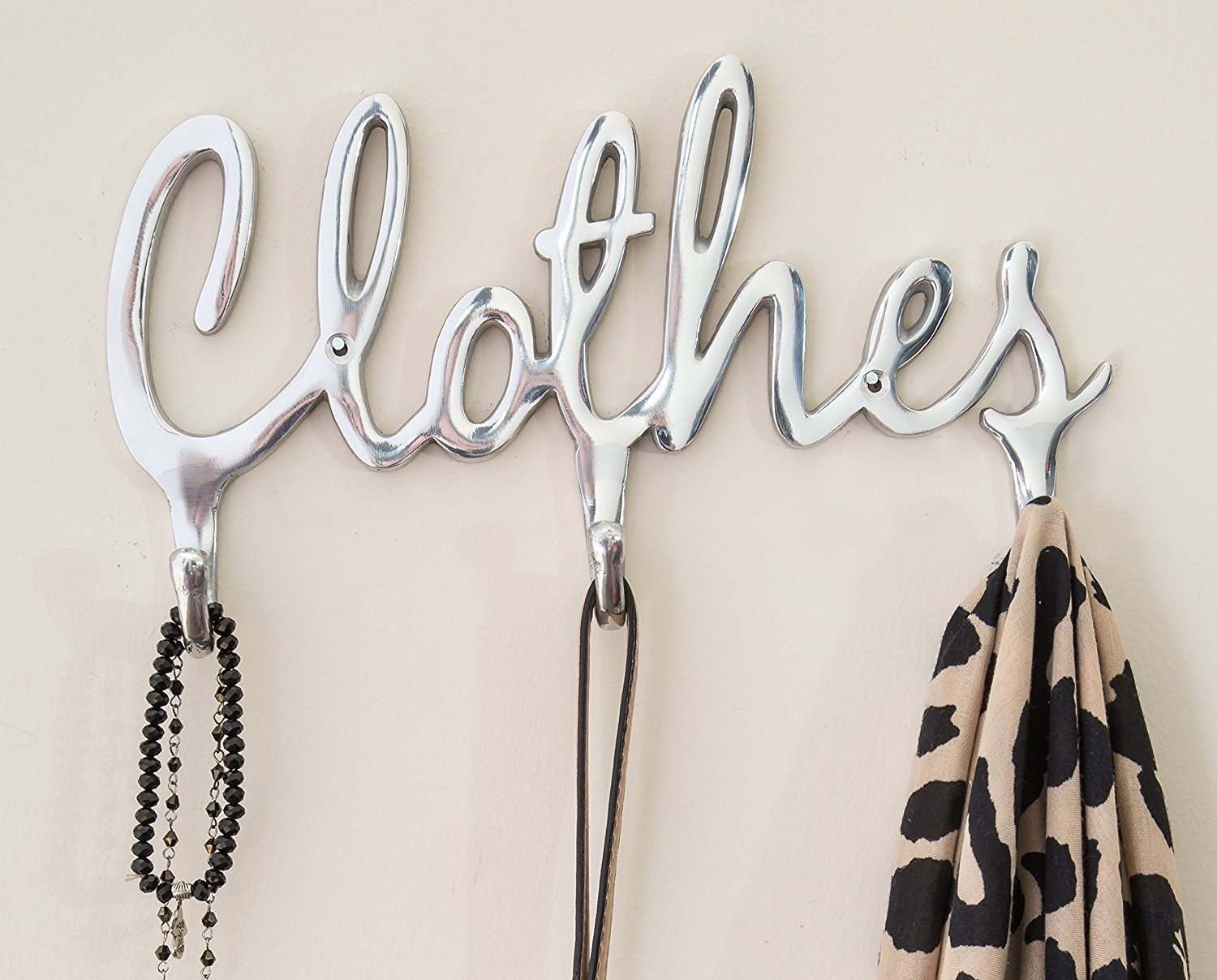 Shabby Chic Style Clothes Coat Rack Hooks By Comfify Polished Metal Contemporary Wall