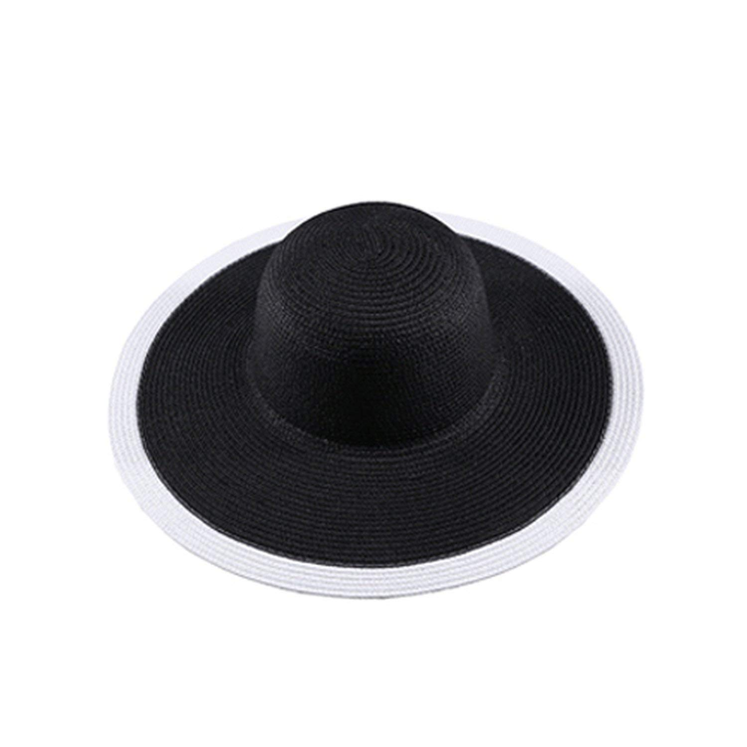 Collocation-Online Summer Women Foldable Sunhat Wide Large Brim Beach Cap Ladies Elegant Tour Hat