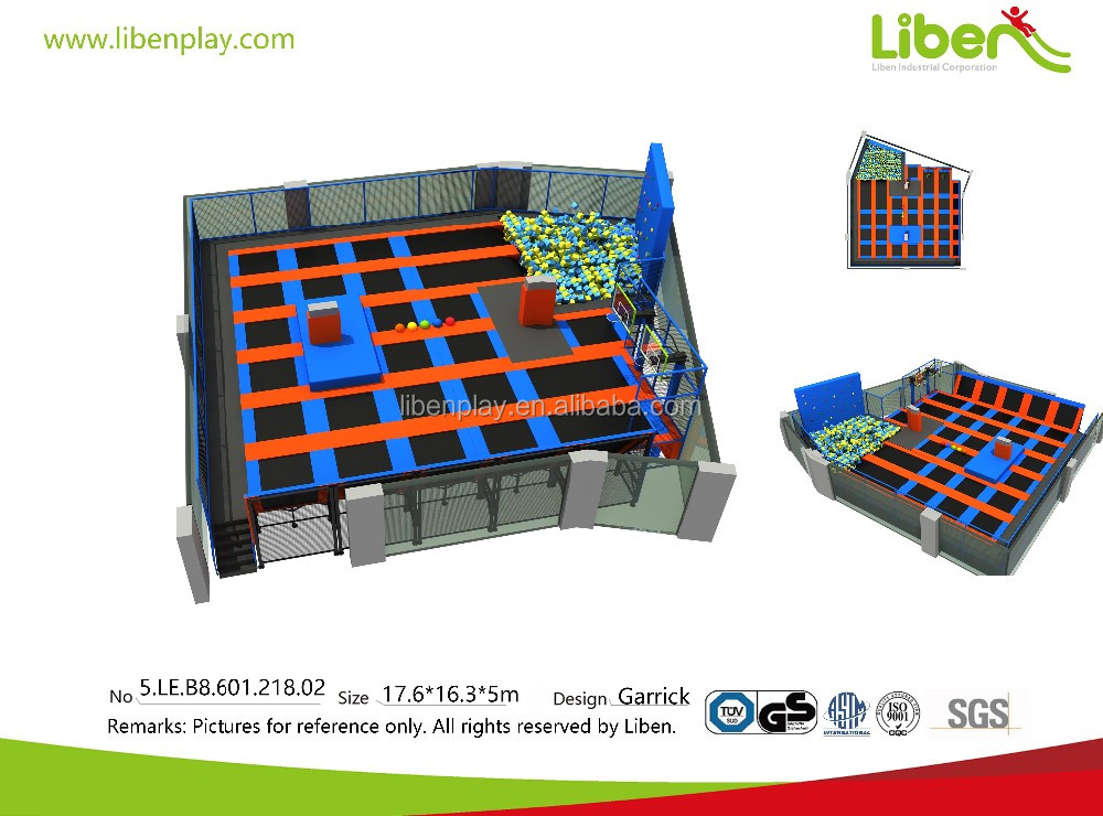 Indoor jump trampolines south africa with foam pit
