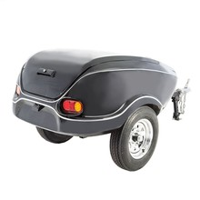 Small covered lightweight utility pull behind compact luggage trailer for sales