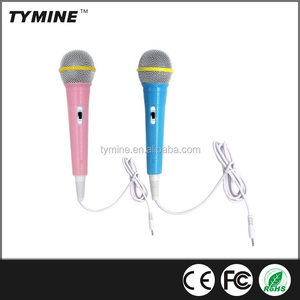 Tymine hot sale children wired microphone karaoke singing kids microphone funny TM-KD01