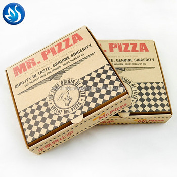 Custom paper pizza box Different Sizes of rectangular pizza box