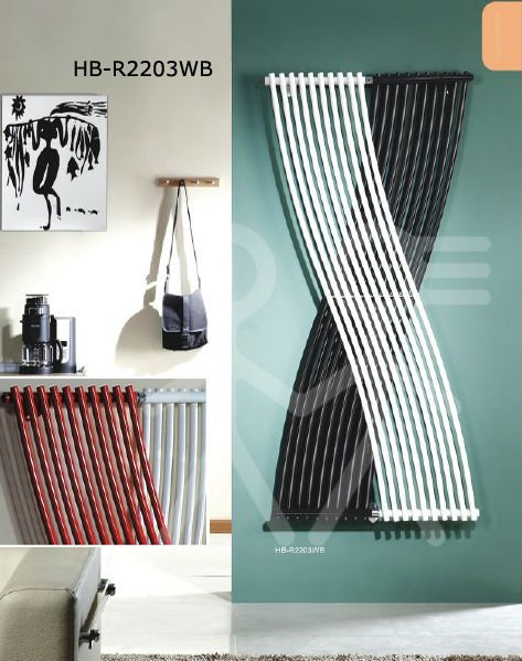 Stahl schwarz weiß vertikale design-heizkörper 1800x410mm zimmer ...