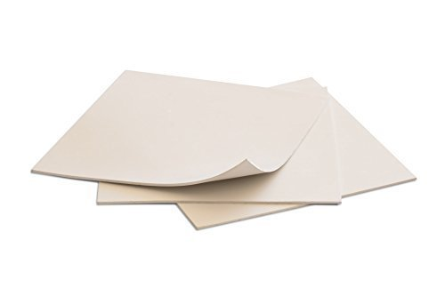 Rubber Sheet Off-White, 6x6-Inch by 1/16 in, (Pack of 3), Plumbing, Gaskets DIY Material, Supports, Leveling, Sealing, Bumpers, Protection, Abrasion, Flooring