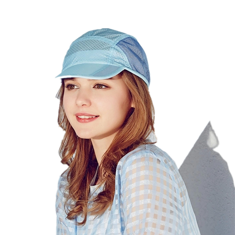 New Kenmont brand Women Girl Summer Spring Baseball Cap Mesh Sun Visor Sports Light Breathable Adjustable Hats Blue 3144