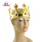 Party Supplies Birthday Felt Gold Crown Hat With Jewelry