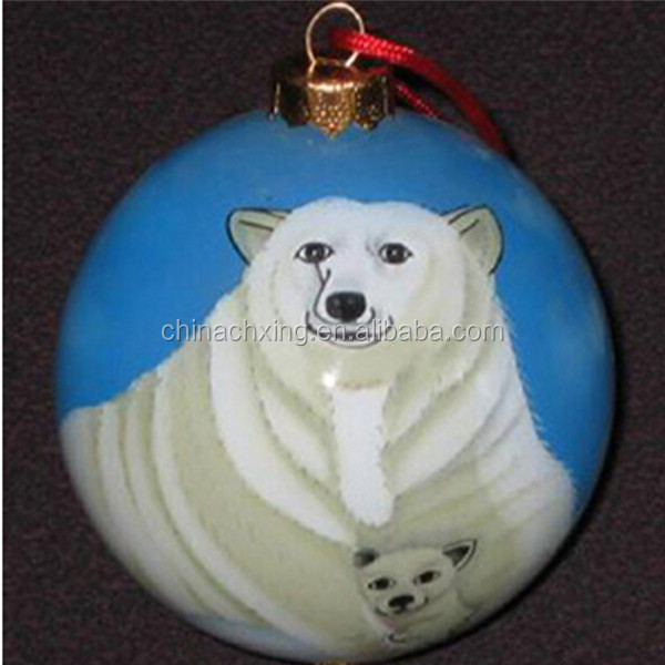 Hand painted Glass Christmas baubles personalized for sale