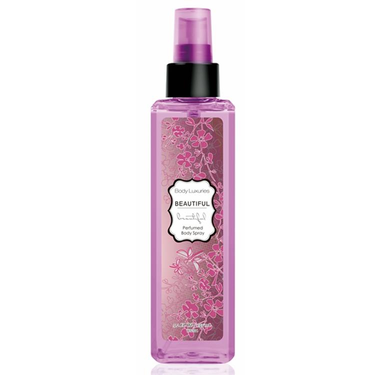 155ml plastic bottle body spray body mist for female