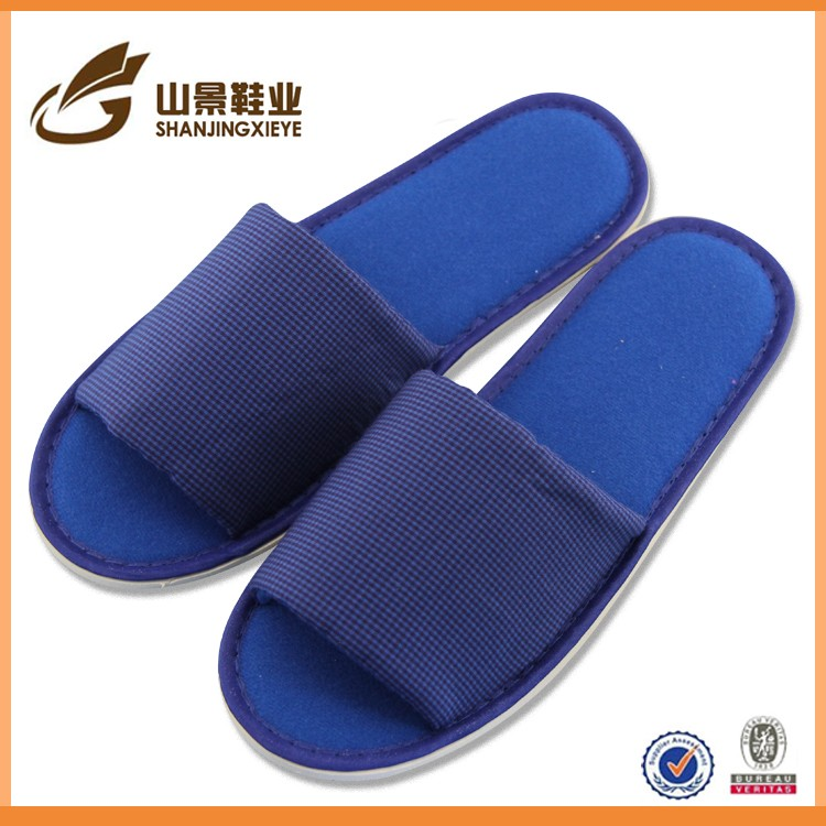 fancy rubber sole popular travel use hotel slippers