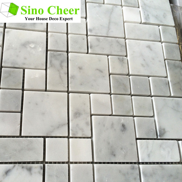 Hot sale carrara white marble tile for floor