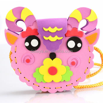 3d Diy Creative Handmade Eva Cartoon Animals Bag Puzzle Arts Crafts