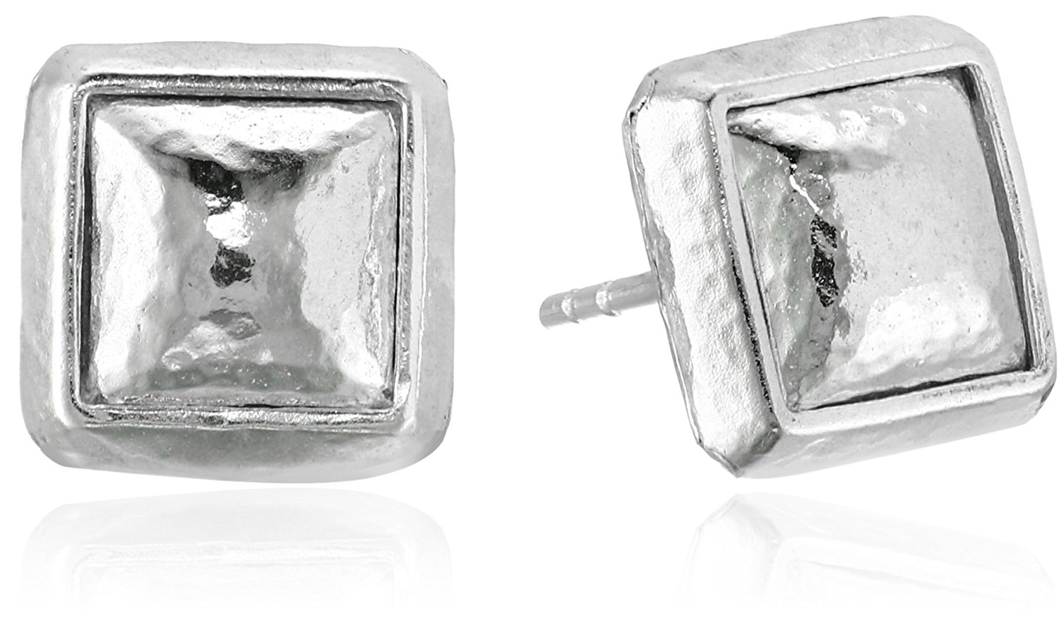 "GURHAN ""Amulet"" Sterling Silver Square Stud Earrings"