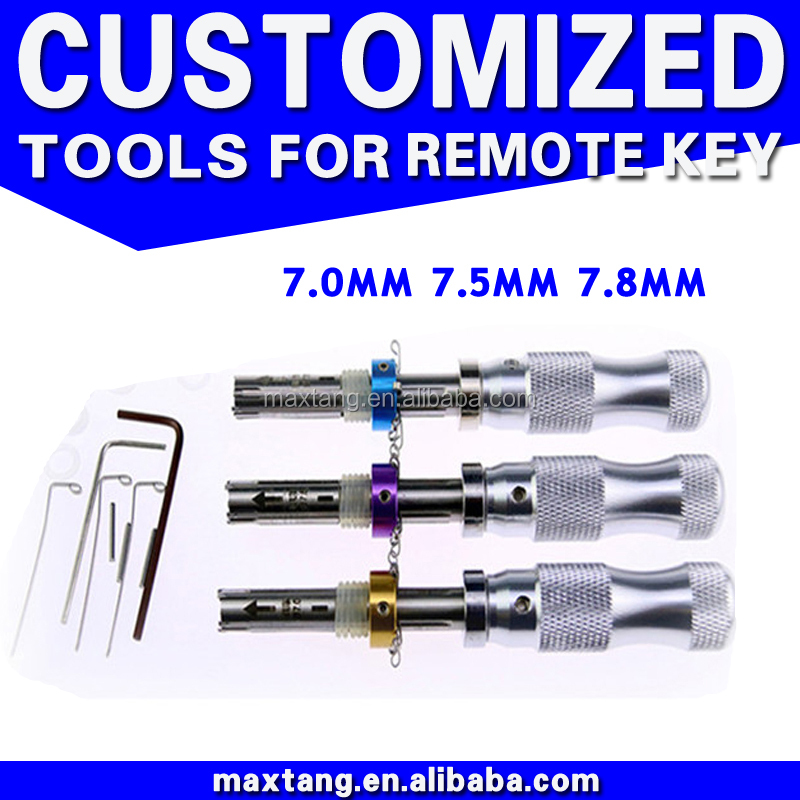 7 Pin Tubular Lock Pick 7.0MM 7.5MM 7.8MM Tubular Lock Pick Set Car Locksmith Tools Lock Pick Set LP001