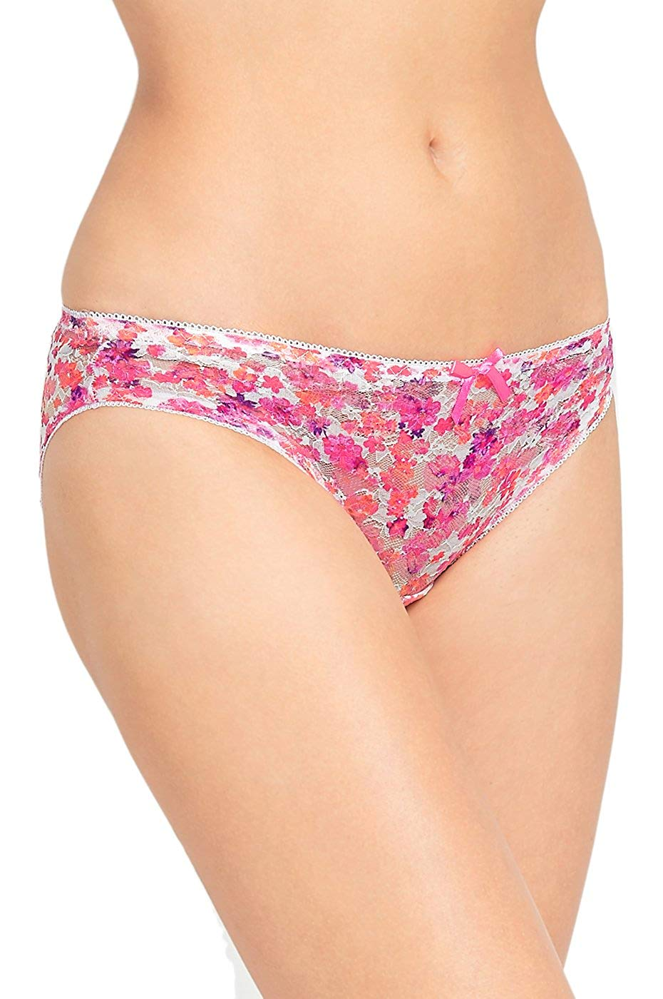 f959c154461eb Get Quotations · Mamia Women s Colorful Sheer Floral Lace Bikini Panty