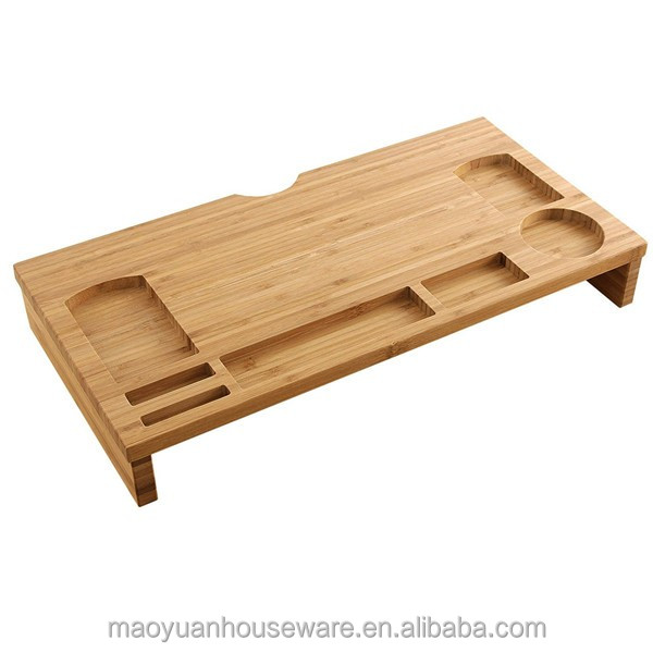 bamboo wooden desktop computer lap tv tray table