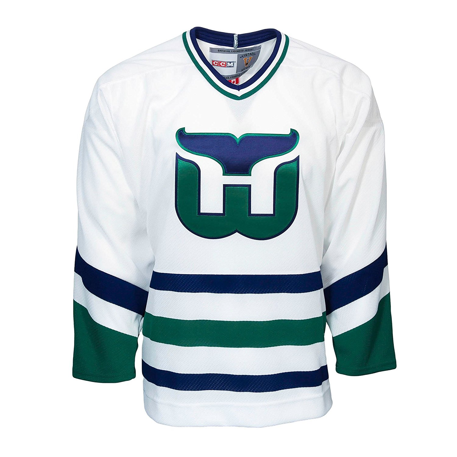Get Quotations · Hartford Whalers Vintage Replica Jersey 1985 (Home) 86f86e64f90