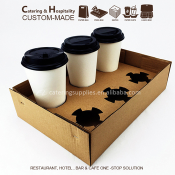 Disposable Biodegradable Coffee Paper Cup Holder Tray - Buy Cup ...