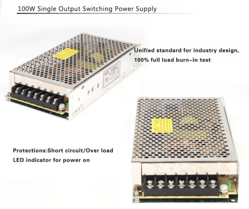S-100-24 transformer 4.5a 24v 100w switching power supply 100w 24v led light driver