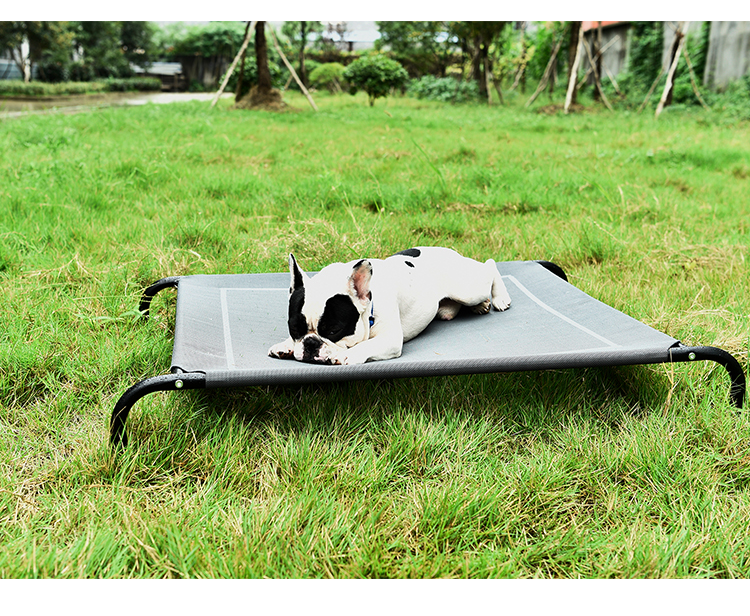 Summer Foldable Steel Square Outdoor Waterproof Elevated Dog Bed Pet