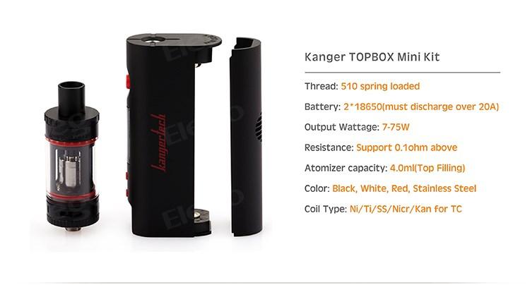 Kangertech Topbox Mini 75w Tc Инструкция - фото 2