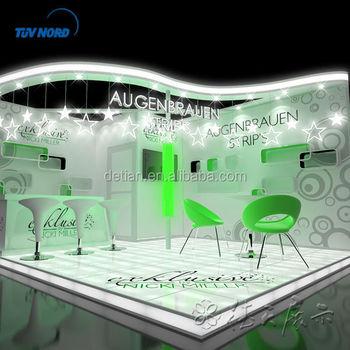 Booth Pameran Dagang Mode Pameran Dagang Modern Dengan Sistem Aluminium Truss