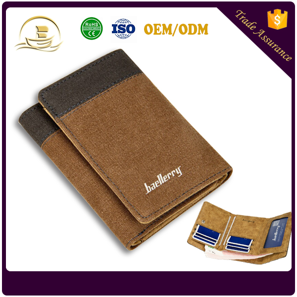 Most popular products useful cheap online shopping Baellerry men's canvas smart wallet for men