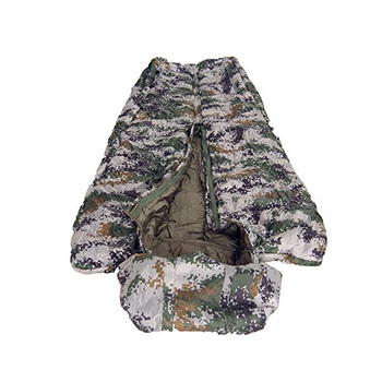 Outdoor Military Camouflage Bivy Sleeping Bag Cold Weather And Down Filled Extreme