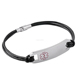 IJB3200 Customized Engravable 316L stainless steel leather bracelet