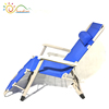 Top class strong material deluxe metal folding recliner chair