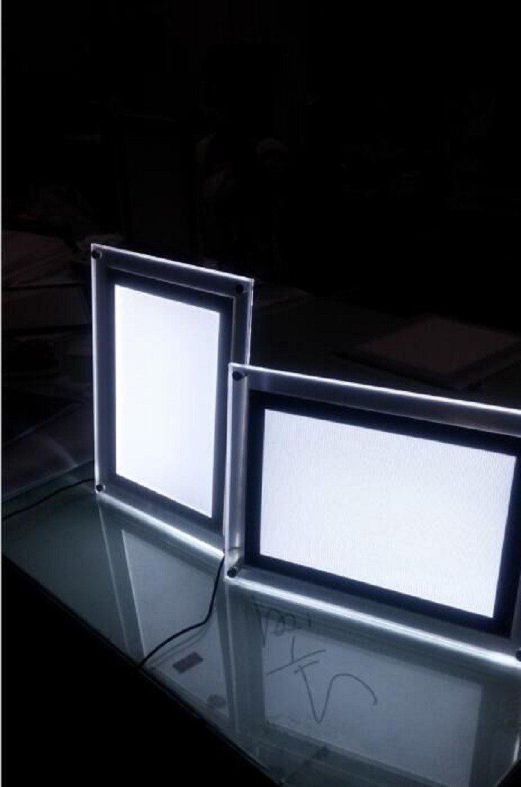 imikimi photo frames photography led lighting a4 acrylic display stand light box led frame light. Black Bedroom Furniture Sets. Home Design Ideas