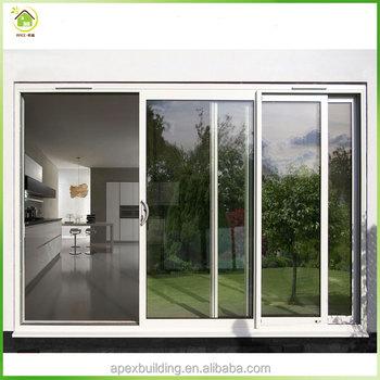 Simple Design White Aluminum Frame Front Doors Sliding Doors Buy